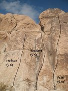 Rock Climbing Photo: Campfire Crag (S. Face Right), Joshua Tree NP