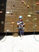 Rock Climbing Photo: kid climber