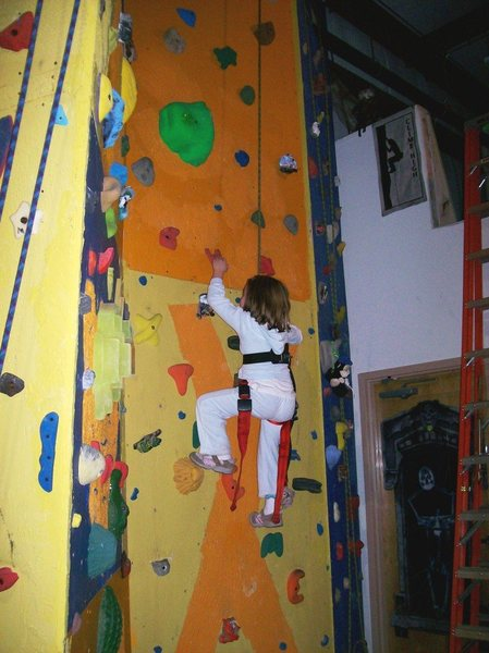 Rock Climbing Photo: Kids cruise the small holds with ease.