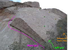 Rock Climbing Photo: Upper Wall from top of P1
