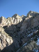 Rock Climbing Photo: Looking up the Wildcat-Dingleberry gully. Dinglebe...