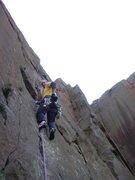 Rock Climbing Photo: Sergei on the classic Bond Street, May, 2006. Phot...