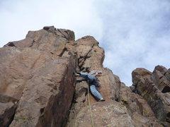 Rock Climbing Photo: Just below the crux wall.