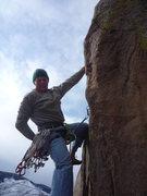 Rock Climbing Photo: At the crux!