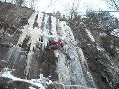 Rock Climbing Photo: first day of ice climbing in sandstone MN