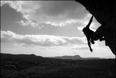 Rock Climbing Photo: up the arete during the red rock rendezvous 08