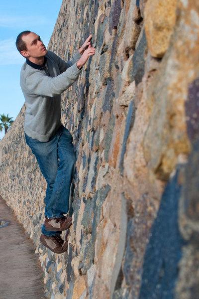 Rock Climbing Photo: Me climbing in La Jolla.