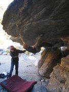 Rock Climbing Photo: Ian working the roof.
