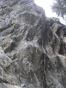 Rock Climbing Photo: Primeval goes up the middle of this pic, along the...