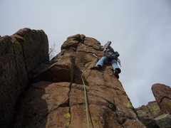 Rock Climbing Photo: Placing some psychological gear that likely won't ...