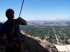 Rock Climbing Photo: Belaying Chris Campbell