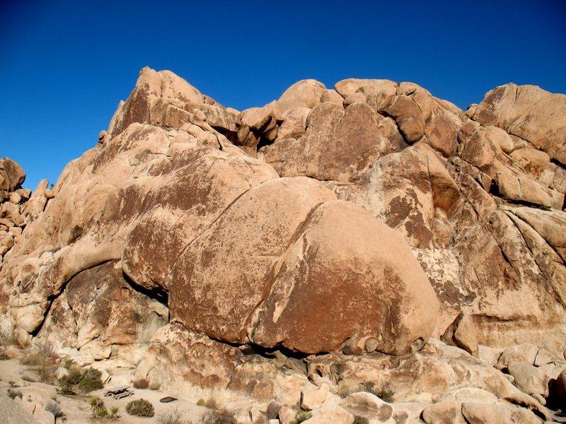 Alpentine Wall, Joshua Tree NP <br>