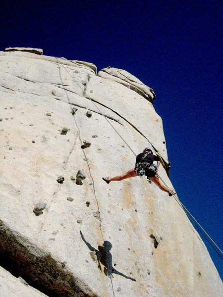 Rock Climbing Photo: That's a rap!  Fly girl M and her shadow on a fine...