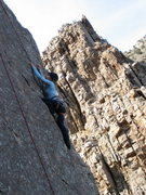 Rock Climbing Photo: jenny on Sudden Exposure in Ogden Canyon.  It is a...