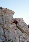 Rock Climbing Photo: The MA battling the Fuego arete. Ill-gnar.