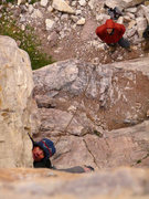 Rock Climbing Photo: Expect a bit of this on this line...