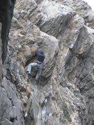 Rock Climbing Photo: Cass tearing up Killer Pillar in the snow...hardco...