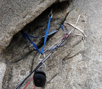 Rock Climbing Photo: This is the slung-detached-block + rattly BD#4 + m...
