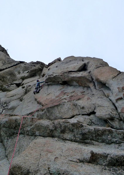 Rock Climbing Photo: GRK and the more manly way to approach 2Heads: str...