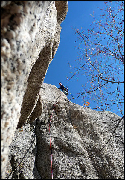 Sweet sweet December days on the Crescent Crack buttress.