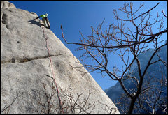 Rock Climbing Photo: Multiplicity arete in December. Pic by GRK