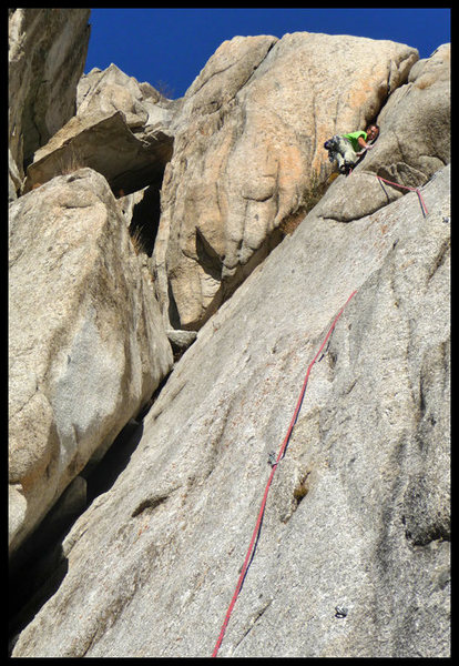 Rock Climbing Photo: The scary - and probably seldom traveled - upper h...
