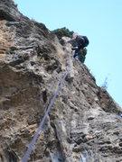 Rock Climbing Photo: Riding the killer final tufa.