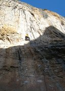 Rock Climbing Photo: The line starts out slabby and gets steadily steep...