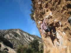 "Rock Climbing Photo: Enjoying the killer jugs of ""Para Mis Amigos&..."