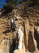 Rock Climbing Photo: Tough moves above the column lead to a juggy flake...