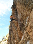 "Rock Climbing Photo: Enjoying great jugs on ""Billy el Rapido""..."