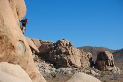 Rock Climbing Photo: Jeremy Freeman rounding the corner on pitch 1 of '...