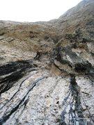 Rock Climbing Photo: Entering the 100-feet-long steep section