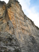 Rock Climbing Photo: The left end of Nuit de Temps offers some nice lon...