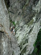 Rock Climbing Photo: Climber on the final pitch.Photo by Ron Kenyon