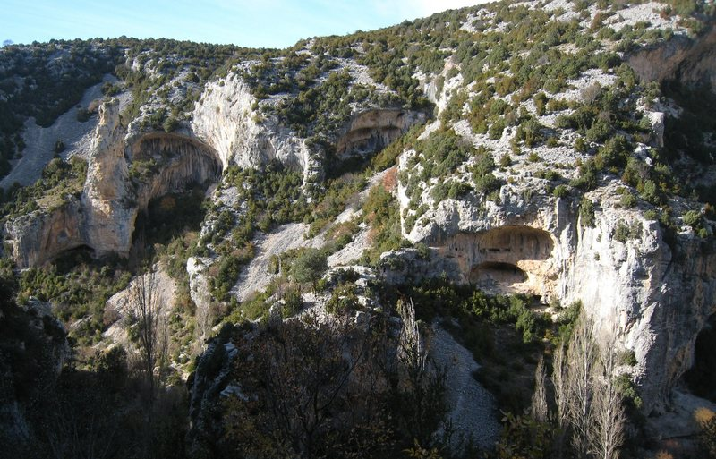 "Rock Climbing Photo: The spire on the left is ""Picon d'o Cuervo&qu..."