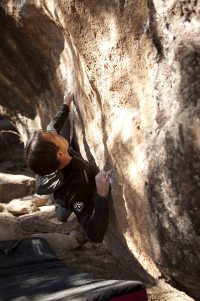 Rock Climbing Photo: Starting low on the Scoop. Thanks Dan West for the...