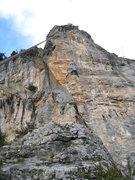 Rock Climbing Photo: Objetivo M climbs the aesthetic steep face just ri...
