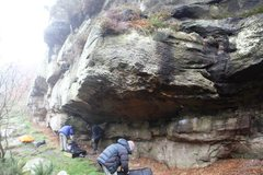 Rock Climbing Photo: Overhanging Buttress, lower tier