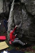 Rock Climbing Photo: Niall starting Christmas Tree Arete Indirect