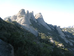 Rock Climbing Photo: The Gorros from near the upper St Joan Funicular s...