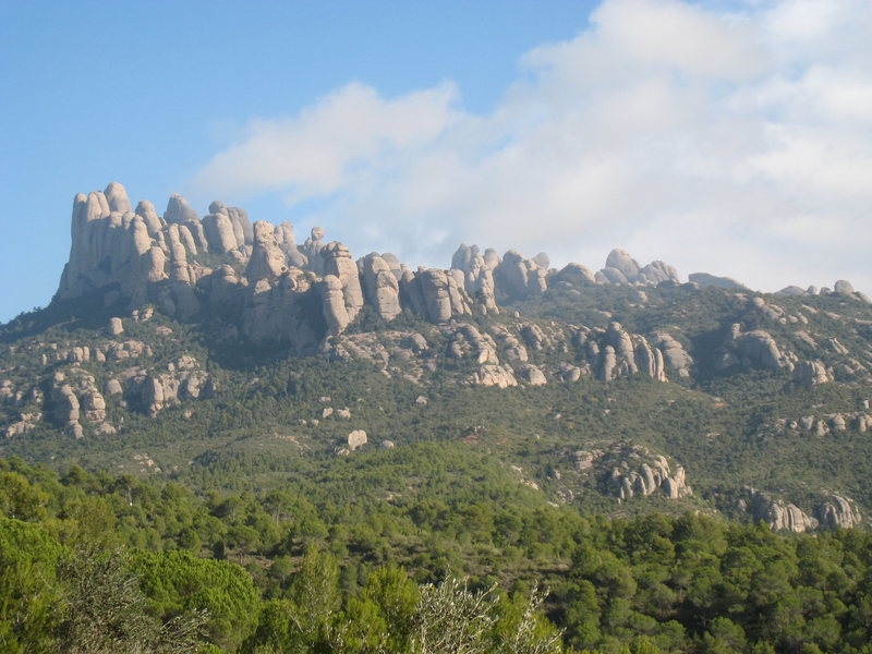 The NW end of Montserrat from the South.