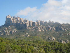 Rock Climbing Photo: The NW end of Montserrat from the South.