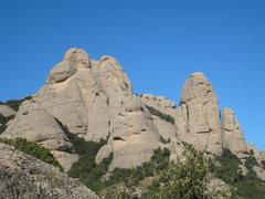 Rock Climbing Photo: L'Elefant (the one that looks like an elephant) an...
