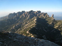 Rock Climbing Photo: The NW end of the Park from the summit of Gorro Fr...
