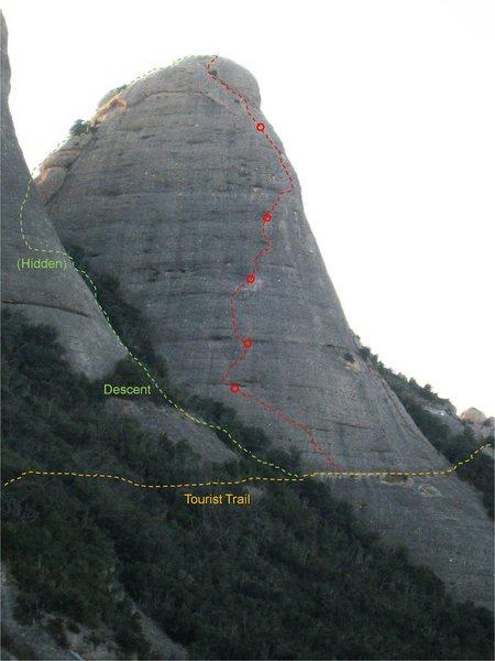 Rock Climbing Photo: Topo of Badalona.