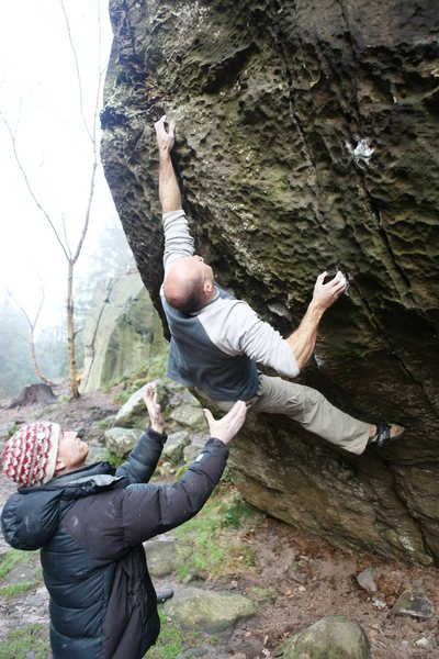 Rock Climbing Photo: Making the huge move on Prime Time