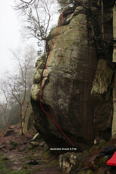 Rock Climbing Photo: Australia Crack 5.11d Topo