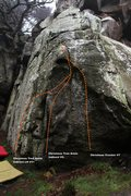 Rock Climbing Photo: Space buttress Topo