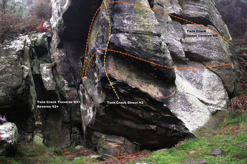 Twin Crack Buttress Topo